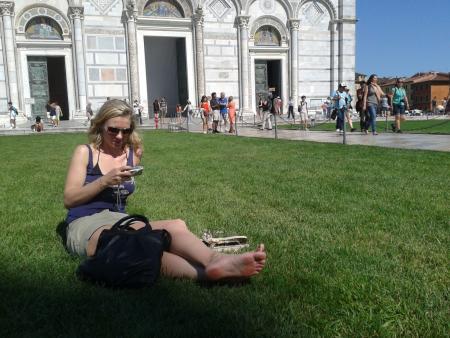 Reise zum schiefen Turm von Pisa