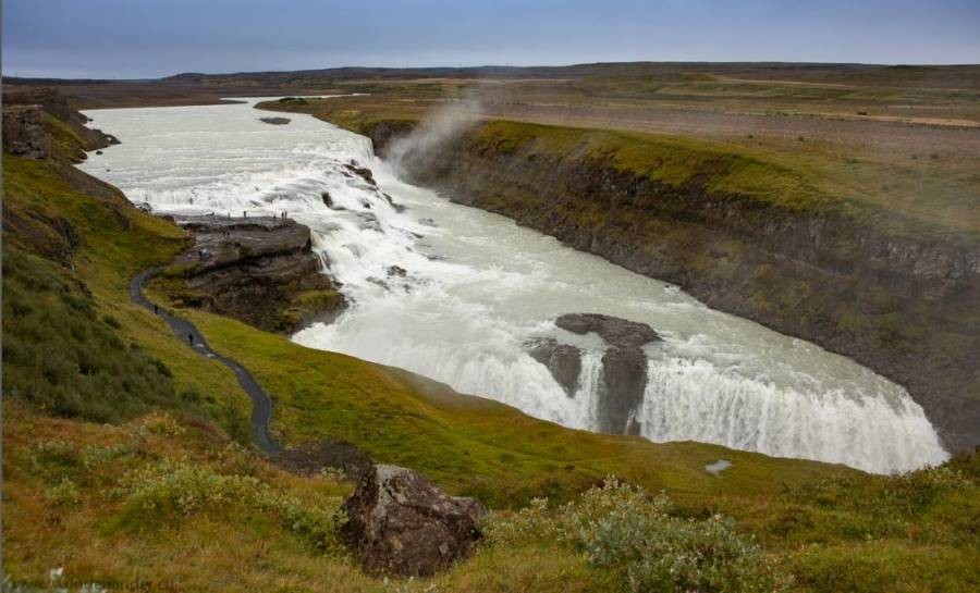 Gulfoss-Iceland waterfall