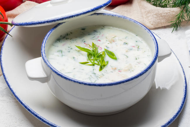 Cold cucumber joghurt soup recipe