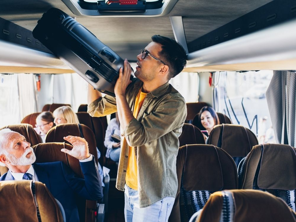 finding friends traveling solo bus